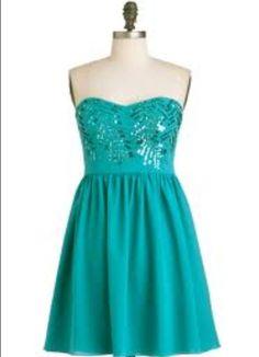 Cute turquoise dress