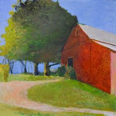 Thurber Barn - Large Version by Wolf Kahn