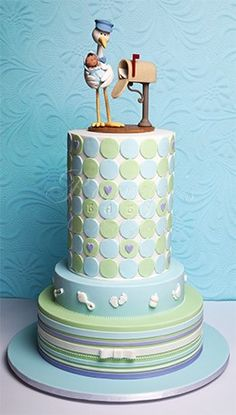 Possibly the most adorable baby shower cake I have EVER seen!! ♥