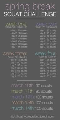 spring break squat challenge