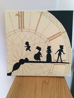 59 Ideas Disney Art Painting Canvases Canvas Ideas Peter Pan For 2019 Disney Canvas Paintings, Disney Canvas Art, Easy Canvas Painting, Diy Canvas, Diy Painting, Canvas Ideas, House Painting, Clock Painting, Painting Walls