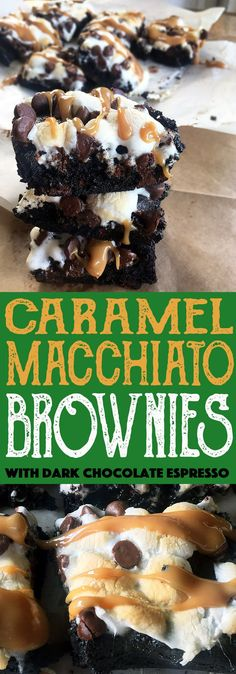 Caramel Macchiato Brownies with Dark Chocolate Espresso and caramel sauce. Your new Starbucks Fix.
