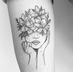 50 Arm Floral Tattoo Designs for Women 2019 Page 19 of 50 Flower Tattoo Designs Head Tattoos, Cute Tattoos, Beautiful Tattoos, Body Art Tattoos, Sleeve Tattoos, Cross Tattoos, Beautiful Drawings, Tribal Tattoos, Floral Tattoo Design