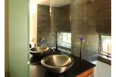 Los Gatos bathroom design in mid-century renovation, addition, and remodel project in San Francisco Bay Area.