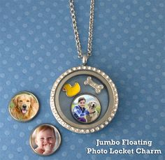 6 Pack Jumbo Mini Round Photo Charms For Floating In Your Glass Locket