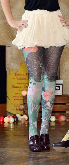8a7b77fe2609d Collant 'Rachel' de 'Marie Antoilette'. Bonkers fun! Fashion Tights,