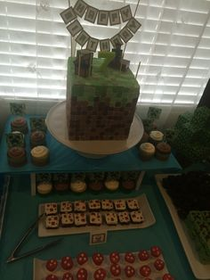 My 12 & 14 year old nieces threw their cousin a Minecraft birthday party today - Imgur