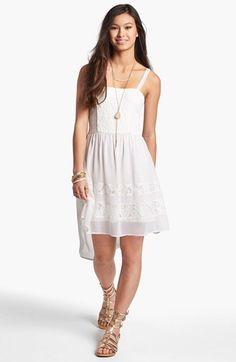 Band of Gypsies Lace Front High/Low Dress (Juniors) available at #Nordstrom.. WANT IT