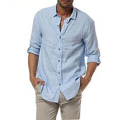 Casual button down shirts for men. 100% linen. https://www.amazon.co.uk/dp/B01ANG820K/ref=cm_sw_r_pi_dp_x_0e6Kzb6GH2KV2