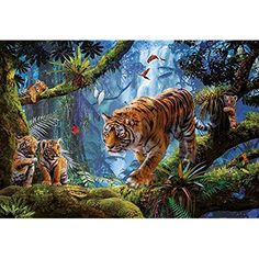 Tiger Prowl Panoramic Canvas Print Modern Art 4 Sizes to Choose Ready to Hang