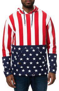 10 Deep The Grand Stand Open Bottom Hoodie Sweatshirt in Red