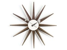 The Vitra Sunburst Clock from 1949, is a simple and beautiful design from George Nelson.