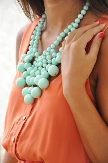 mint necklace  adella apparel: fall arrivals...