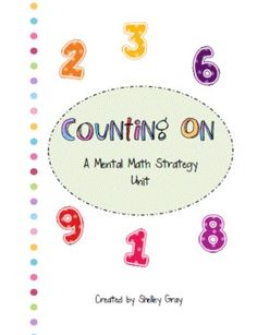 This unit is part of the addition portion of the Mental Math Strategy Collection.To purchase all six addition units together and receive 6 for ...