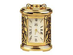 Reloj mini damasquinado en oro, FLORAL - Toledo Gold