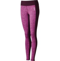 The Reebok® Women's Cold Weather Compression Space Dye Pieced Tights offer chic athletic style and the performance construction you need to stay fit during colder months. PlayWarm® technology traps body heat for warm comfort, while remaining breathable so moisture can evaporate during your workout. For a unique pieced design, these tights feature a solid waistband and side panels to contrast with the spade dye front and back panels.