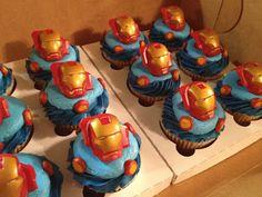 Iron Man Birthday Cupcakes