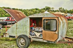 very old teardrop camper!