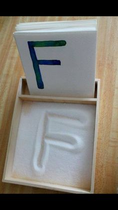 Use salt to help learn the alphabet! -from Moms Got Ink on FB