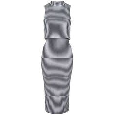 Topshop Cutout Midi Dress ($35) ❤ liked on Polyvore