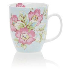 Katie Alice Candy Flower Bullet Mug - Blueness- asda