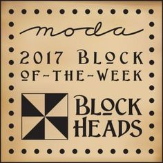 Moda Blockheads 2017 Free Block Pattern of the Week