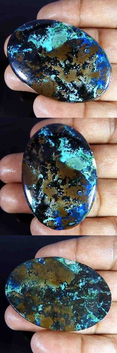 Azurite 181080: 142.60Cts. 100% Natural Green Azurite Fantastic Oval Cabochon Loose Gemstone -> BUY IT NOW ONLY: $100.99 on eBay!