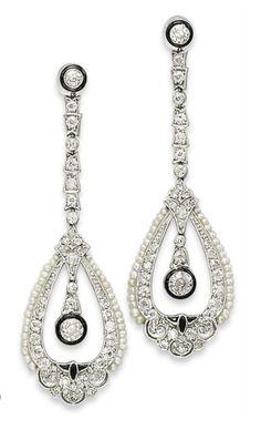 Earrings   c.1920  Christie's
