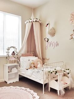 Just wanted to share my girls swan themed room :) Big Girl Rooms Girls room share Swan Themed wanted Ikea Girls Bedroom, Big Girl Bedrooms, Baby Bedroom, Little Girl Rooms, Bedroom Themes, Room Girls, Baby Girl Room Themes, Boy Girl Room, Ikea Toddler Bed