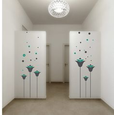wall sticker wall decals FLORALDESIGN 2 colours Size 160cm x
