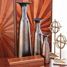 Global Views Chalice Bottle - Bronze - Large