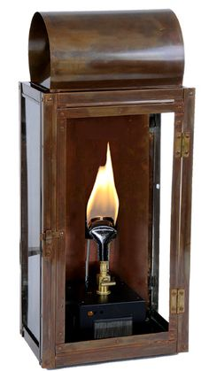 Roll top copper gas lantern-option for side of  house?