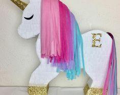 Diy Pinata Discover Unicorn Piñata Bundle - Personalization & Shipping are FREE! Unicorn Themed Birthday Party, 1st Birthday Parties, Birthday Party Decorations, Girl Birthday, Unicorn Baby Shower, Unicorn Crafts, Unicorns, Party Ideas, Pony