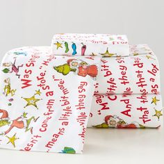 Grinch™ Words Of Who-Ville Flannel Sheet Set, Full, Multi
