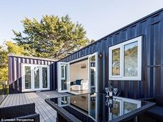 'I remember reading my diaries and discovering that even as a teenager I was obsessed with designing small spaces,' Ms Kelly told Daily Mail Australia (pictured: her tiny home)
