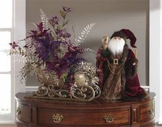 I love the plum palette used in this sleigh.