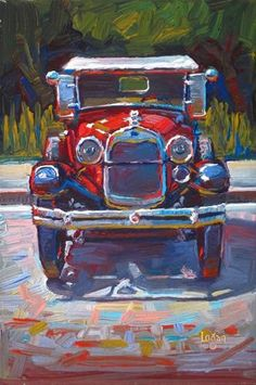 "Daily Paintworks - ""1929 Ford Model A"" - Original Fine Art for Sale - © Raymond Logan"