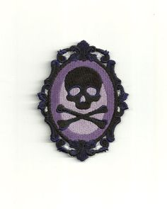 Skull Cameo Patch by PatchNation on Etsy, $5.99