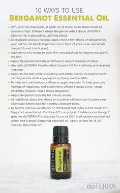 10 Ways to Use Bergamot Essential Oil | doTERRA Essential Oils