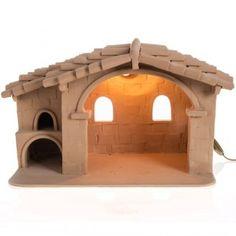 Capanna presepe terracotta illuminata   vendita online su HOLYART