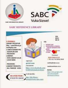 South African Library Week at the SABC Information Library E Journals, Library Week, Out Magazine, Libraries, African, Names, Reading, Books, Libros