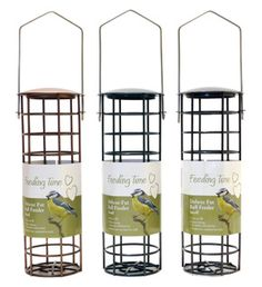 Garden Bird Deluxe Fat Ball Feeder Small - Our Deluxe range continues with a Deluxe Fat Ball Feeder (made from squirrel-busting 2.5mm wire) and a Nyjer Seed Feeder.