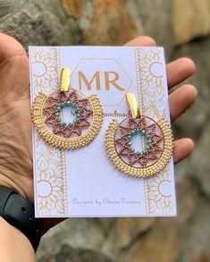 Seed Bead Earrings, Beaded Earrings, Statement Earrings, Earrings Handmade, Seed Beads, Beaded Jewelry, Earring Tutorial, Bead Weaving, Beading Patterns