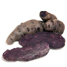 Organic Purple Peruvian Fingerling Potatoes (Lb)