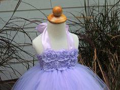 Flower Girl Tutu Dress, Light Purple Flower Girl