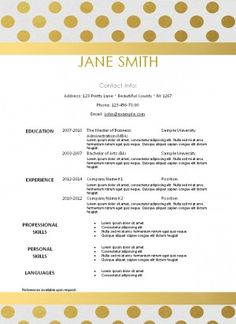 Free Printable Resume Template That Can Be Edited Instant