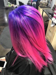 Erleichtere sie auf Level 10 an der Basis und 12 an den Enden. Ich habe lila am Vivid Hair Color, Cute Hair Colors, Pretty Hair Color, Beautiful Hair Color, Hair Color Purple, Hair Dye Colors, Extreme Hair Colors, Pink Purple Hair, Hot Pink Hair