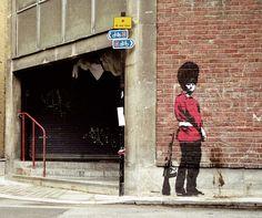 """Obra de """"Banksy"""", Reino Unido"""
