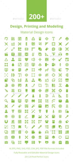 200+ Material Design Icons. Download here…