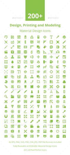200+ Material Design Icons